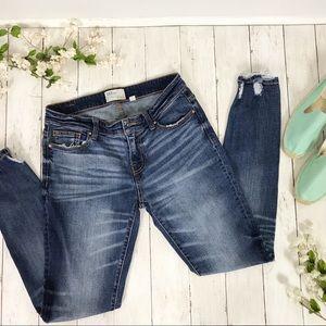 BKE High Rise Distressed Payton Skinny Jeans